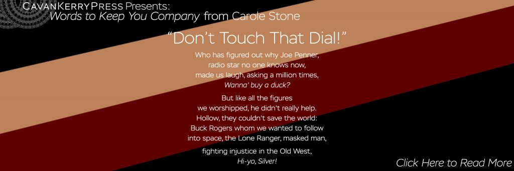 """A photo with text from """"Don't Touch That Dial!"""" by Carole Stone"""